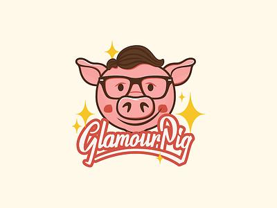 Glamour Pig! glamour illustration glasses pig lettering script