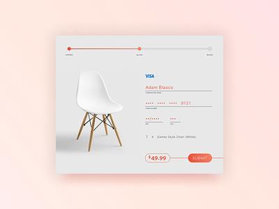 Daily UI 002 - CC Checkout (2.0) minimal lifestyle interior design payment checkout eames chair dailyui 002 ui dailyui