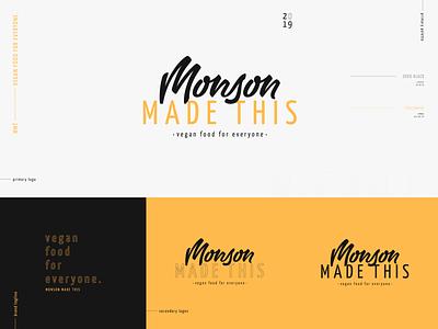 Monson Made This Branding Exploration specimen tagline handlettering script vegan logo identity branding