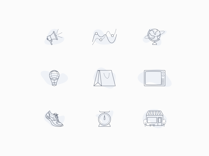 Service Icon Style Exploration design system illustration monoweight icon set icon