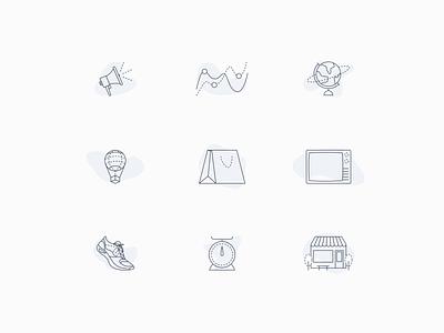 Service Icon Style Exploration design system illustration monoweight icon set icon