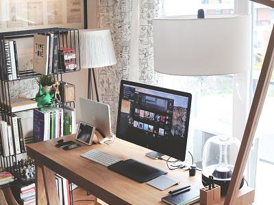 My Home Workspace workplace workspace home work places desktop room desk wood istanbul turkey