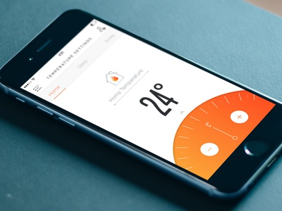 smart thermostat by murat gursoy dribbble. Black Bedroom Furniture Sets. Home Design Ideas