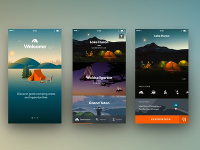 Camping App Part2 app ios reservation travel camping