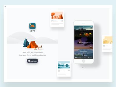 Camping app landing page