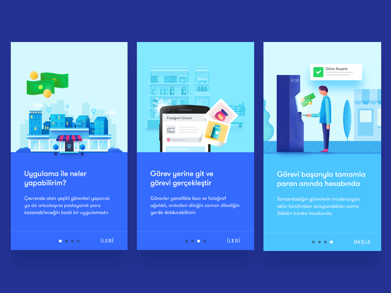 Onboarding Screens shopping design onboarding material android app walkthrout tour sign