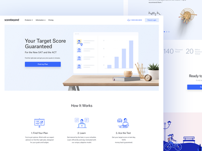 Landing Page For Scorebeyond (w.i.p) tutor ux ui scorebeyond course education page landing