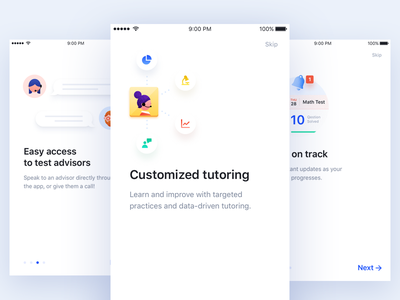 ParentUp Onboarding education on boarding ios app parent up