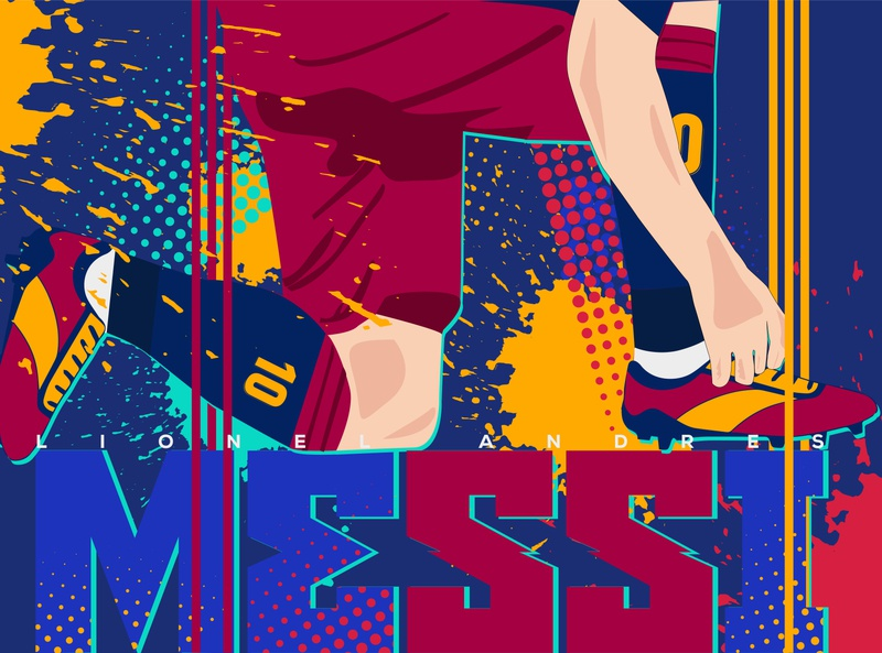 Lionel Messi wallpaper illustration