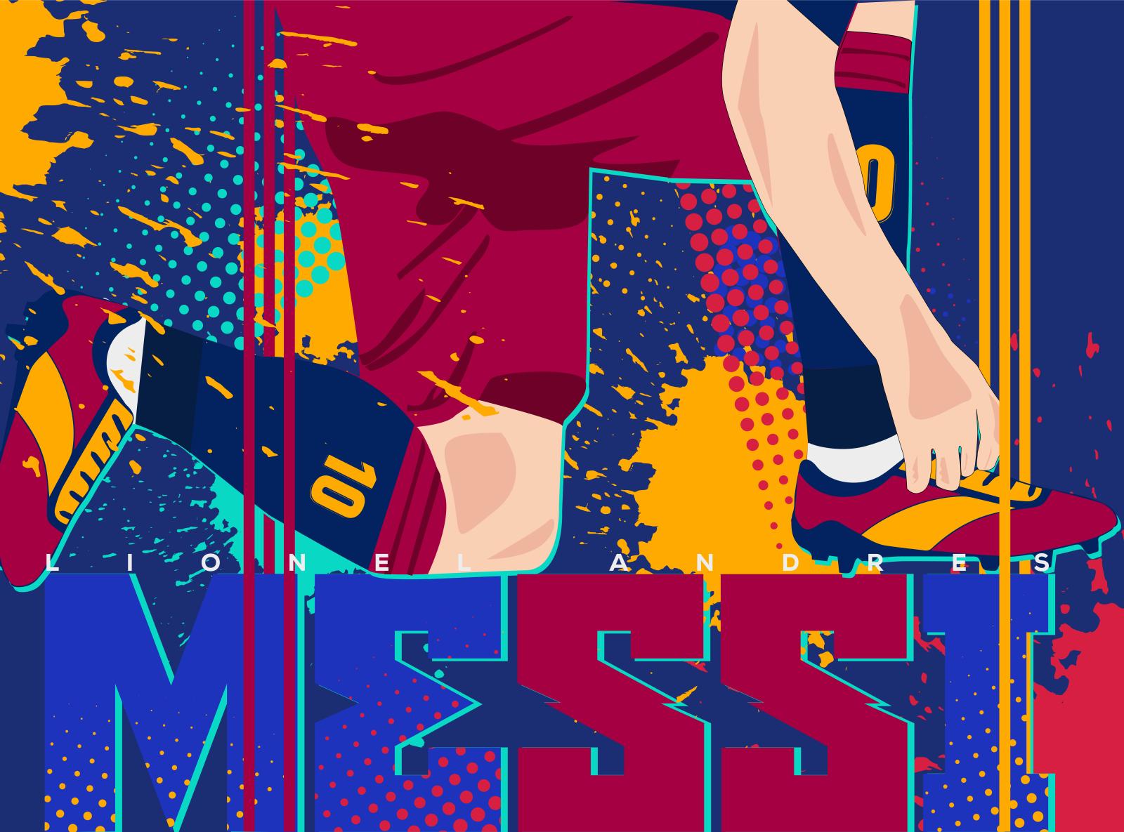 Lionel Messi Wallpaper Illustration By Md Hi Shuvo On Dribbble