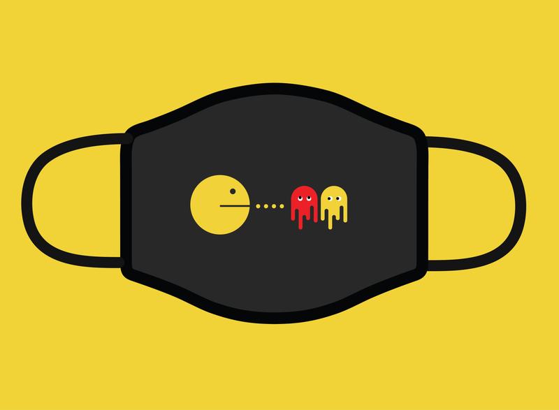 Design For Good Face Mask Challenge (PacMan) social distance cartoon face mask idea mask design coronavirus