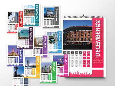 Bashundhara city 2020 Wall Calendar Concept