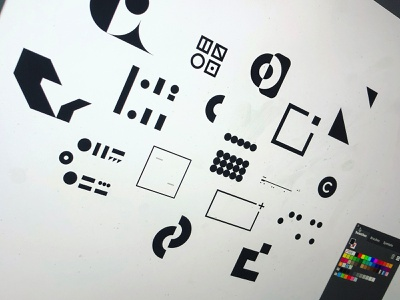Brand Exploration monogram color shapes branding design illustration illustrator adodeillustrator adobe branding identity logos logo