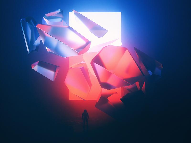 Astro & The Universe | Lost Shadow. octanerender album music cinema4dart surreal spaceman astrology astronaut astro scifiart octane render space scifi octane cinema4d