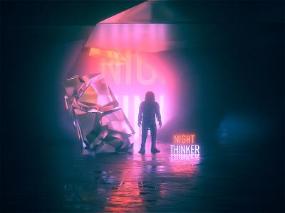 Astro & The Universe | Night Thinker 2020 scifiart astronaut surreal film music space scifi octane c4d cinema4d