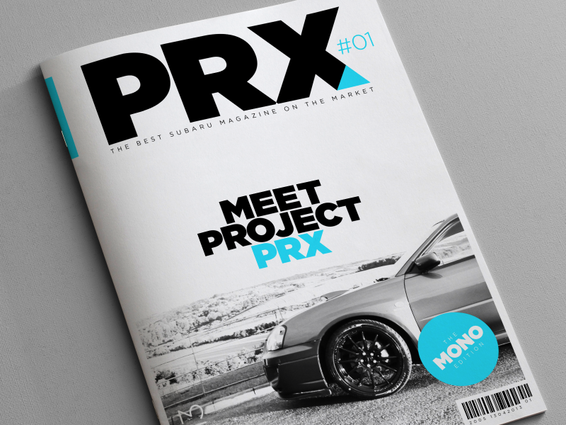 Project PRX Magazine 2 photography indesign layout swiss design swiss clean layouts gotham triangle automotive car impreza subaru mono brochure magazine