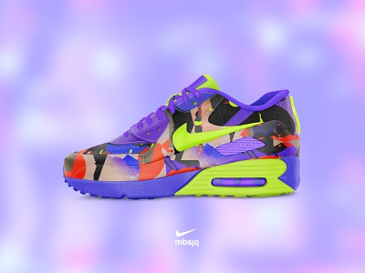 Nike vs mbsjq vibrant 2020 color photoshop concept mockup art collage trainers nike air max nike air nike