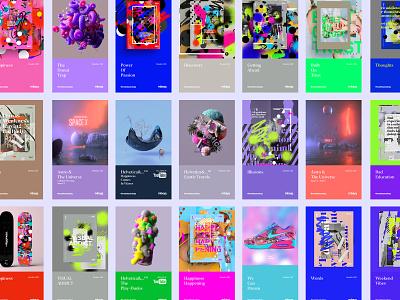 mbsjq | Feb 2020 poster collage abstract logo branding redshift octane c4d cinema4d portfolio digital art freelance art illustraion digital illustration