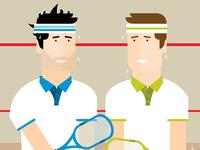 'Game of squash anyone' illustration