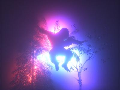 Astro & The Universe | Forest Surveillance artist mbsjq color gradient web digitalart poster octane c4d cinema4d astronaut space scifiart scifi