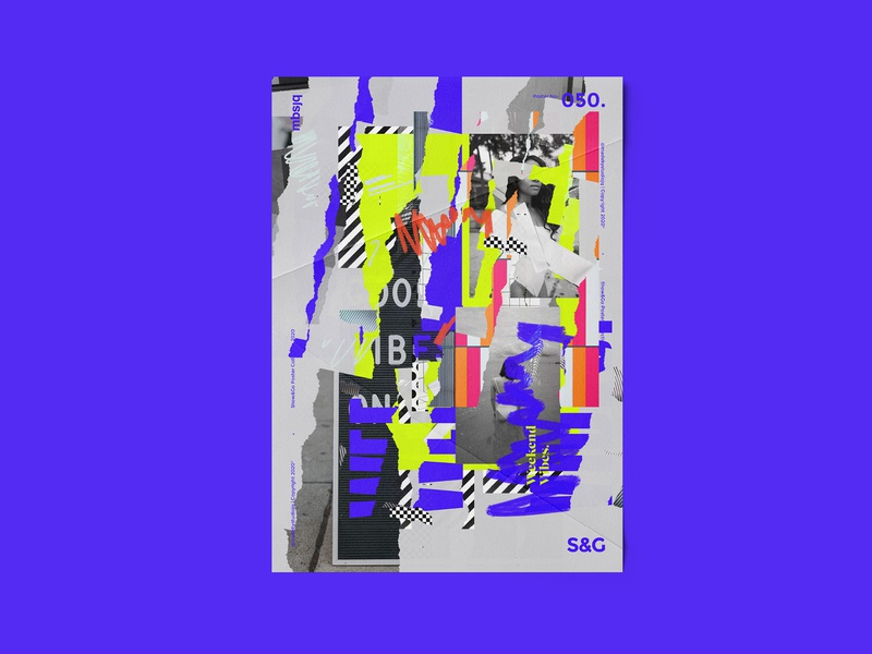 Show&Go2020™ | 050 | Weekend Vibes. poster design mbsjq type art type collage poster