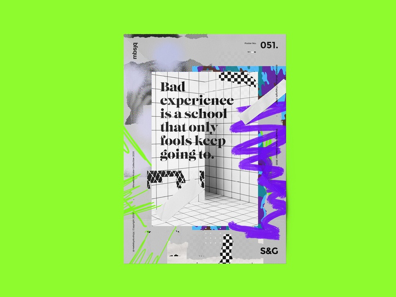 Show&Go2020™ | 051 | Bad Experience. abstract swiss color branding logo illustration design poster design mbsjq type photoshop adobe poster