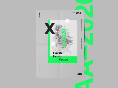 Show&Go2020™ | 054 | Earth From Space poster art layout adobe photoshop adobe swiss scifi space poster