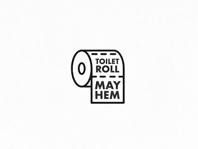 TOILET ROLL MAYHEM 🚽 toilet paper virus branding comedy logotype logomark logo coronavirus