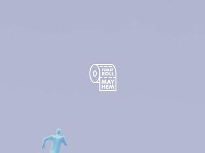 TOILET ROLL MAYHEM 🚽 animation motiondesign motion logo toiletroll toiletpaper funny houdini comedy corona coronavirus