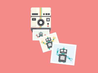 Polaroid robot dance