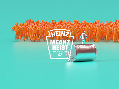 HEINZ MEANZ HEIST | Bean & Gone! motiondesignschool branding logos logotype mbsjq redshift octane motiongraphics houdinicrowds houdini cinema4d logo comedy funny motiondesign motion heinzbakedbeans heinz