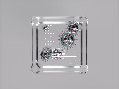 Contain The Bast&rd! mbsjq holographic octane render octane motion designer cinema4d animation motiondesign motion graphics covid19 virus coronavirus motion