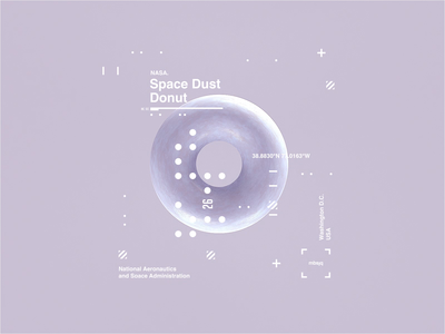 NASA l Space Dust Donut | Motion