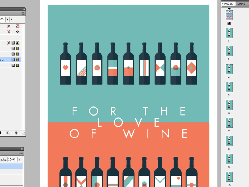 FOR THE LOVE OF WINE illustration vector clean icon icons wine posters indesign illustrator branding