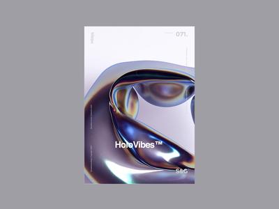 Show&Go2020™ | 071 | HoloVibes™ poster design loop houdini motion design octane render octane holographic c4d helvetica digitalart dispersion animation motion poster