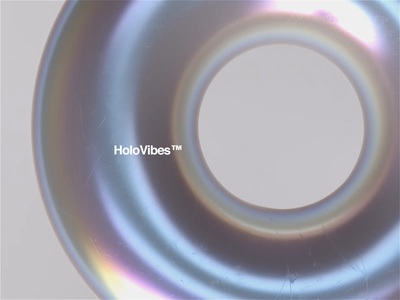 HoloVibes™ 🌈 typography web mbsjq dispersion loop satisfying animation holographic octane c4d cinema4d motiondesign motion