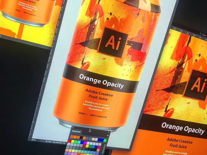 Adobe Creative Fruit Juice   Adobe Illustrator