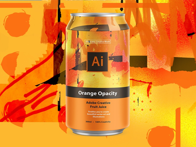 Adobe Creative Fruit Juice | Adobe Illustrator can design can pattern mbsjq orange logo branding packagingdesign packaging adobe creative suite illustration illustrator adobe illustrator adobe