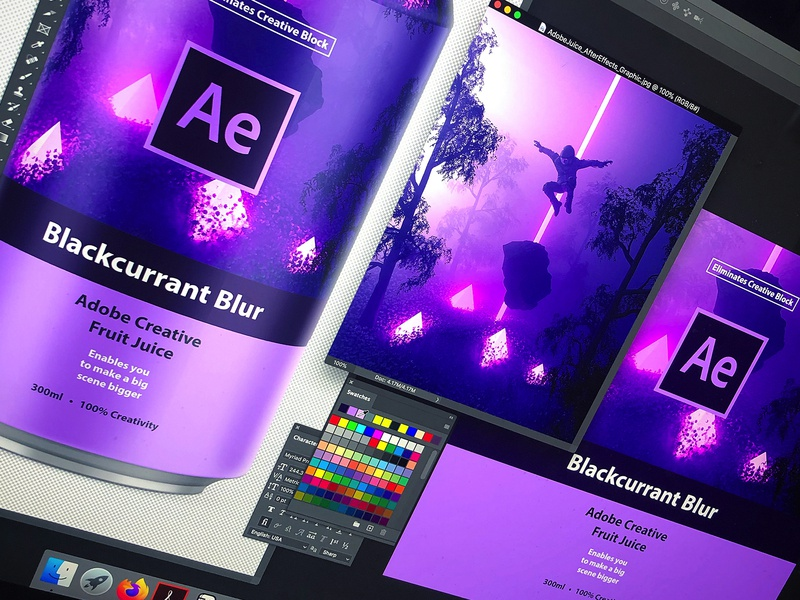 Adobe Creative Fruit Juice   Blackcurrant Blur can mockup branding logo packaging drink can design space aftereffects adobe aftereffects adobe