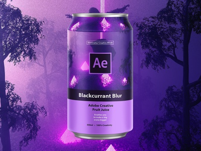 Adobe Creative Fruit Juice | Blackcurrant Blur purple drink space packagingpro packaging can design can logo adobeaftereffects adobe creative suite adobe