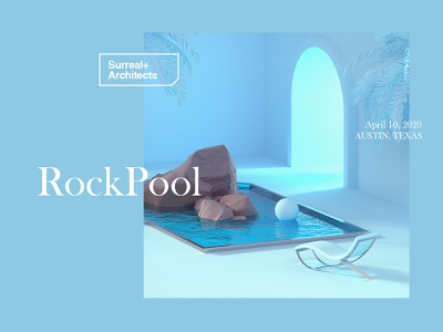 Surreal+Architects | RockPool texas architecture octanerender octane cinema4d blue pastel minimalism surreal surrealism surreal art web
