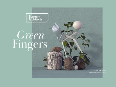 Surreal+Architects | Greenfingers artwork mbsjq green minimalism minimal surrealism octane cinema4d type web ui nature surreal art surreal
