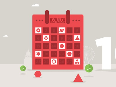 Events branding illustration