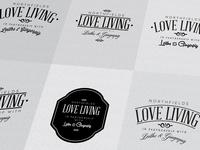 Love Living logo mark / initial designs...