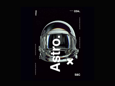 Show&Go2020™   094   Astro Approach astronaut mbsjq motion sci-fi space poster art poster a day poster