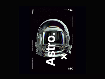Show&Go2020™ | 094 | Astro Approach astronaut mbsjq motion sci-fi space poster art poster a day poster