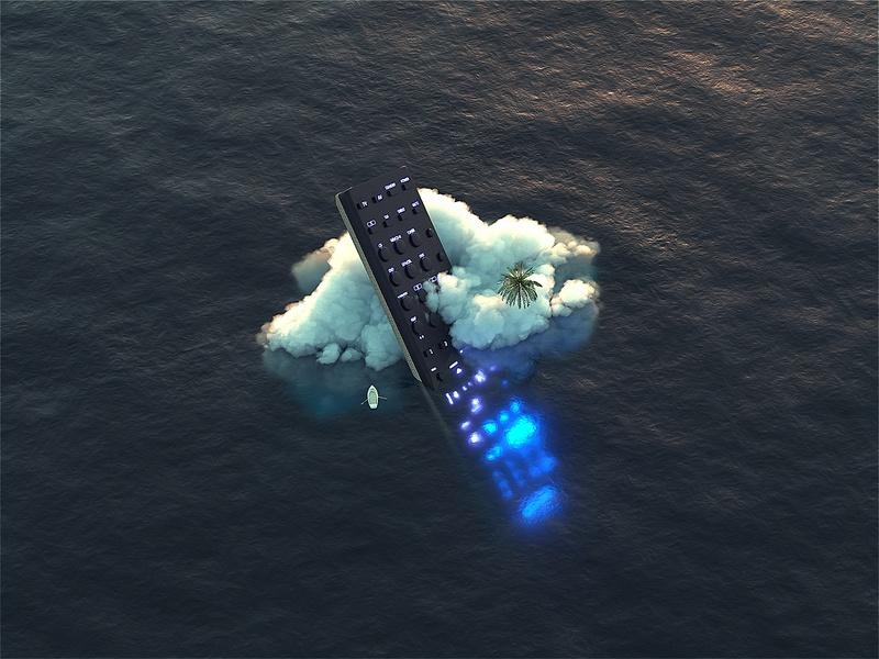 Remote. Controller. octanerender ocean maxon surreal art 3d art surrealism surreal octane