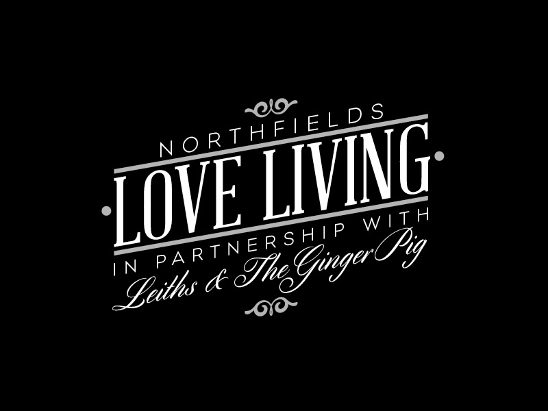 Love Living - Leiths & Ginger Pig campaign logo identity typography food recipe mono logomark script design