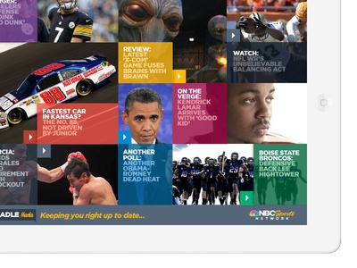 iPad UI for NBC Sports Network 3