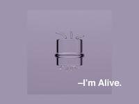 I'm Alive. houdini redshift cinema 4d cinema4d motion graphics helvetica motion alive